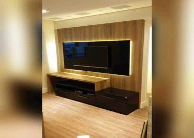 Marcenaria Miranda Design -Painel para tv com iluminação