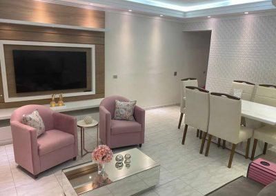 Marcenaria Miranda Design - Sala Rosa Home painel tv (1)