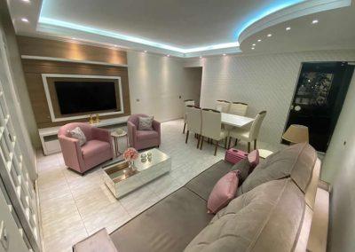 Marcenaria Miranda Design - Sala Rosa Home painel tv (2)