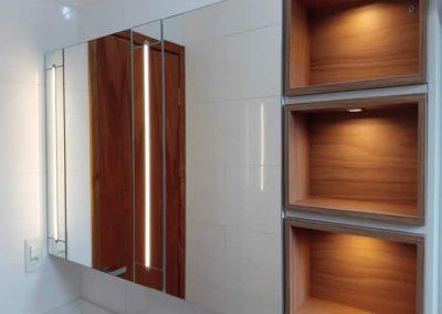 Marcenaria Miranda Design em Santo André- Armário com espelho e Iluminação
